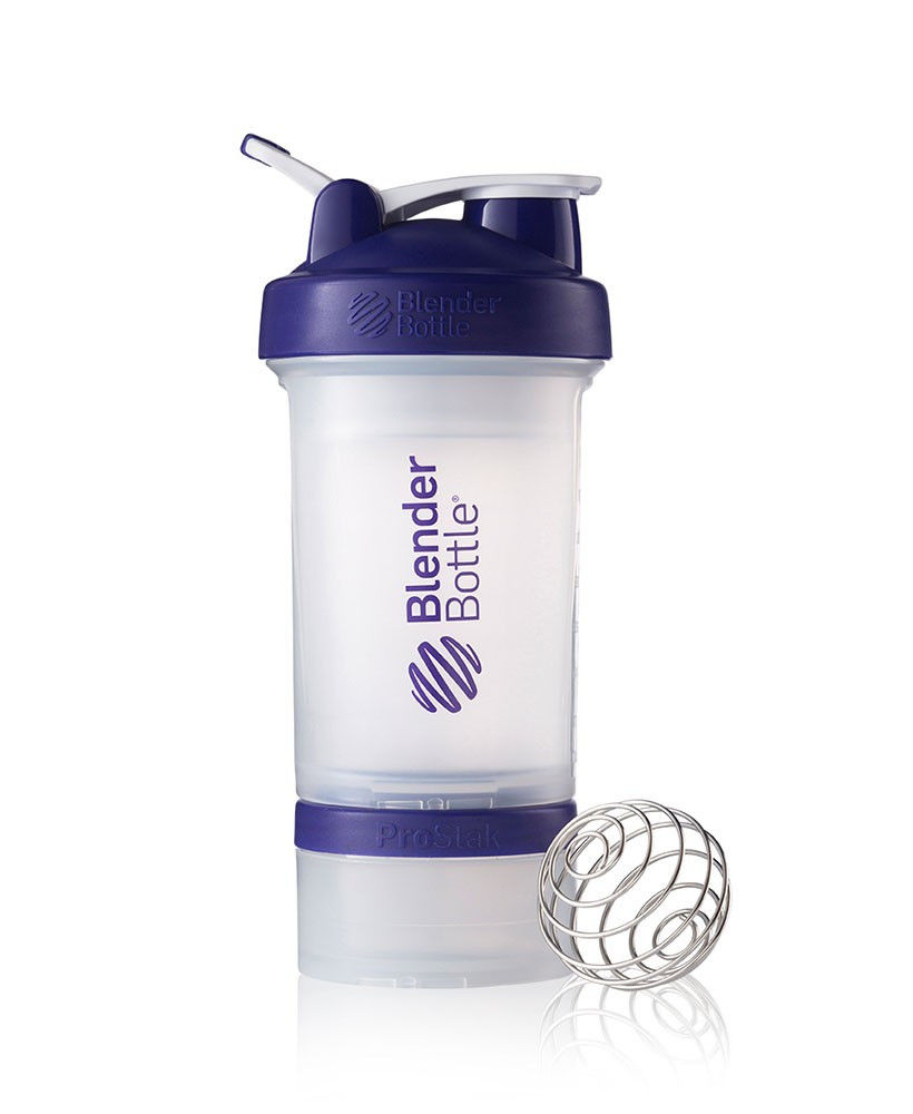 Шейкер спортивный BlenderBottle ProStak 650ml (ORIGINAL) Trans-Purple фото видео изображение