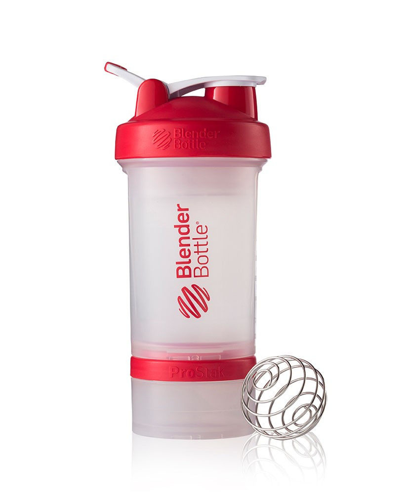 Шейкер спортивный BlenderBottle ProStak 650ml (ORIGINAL) Trans-Red фото видео изображение
