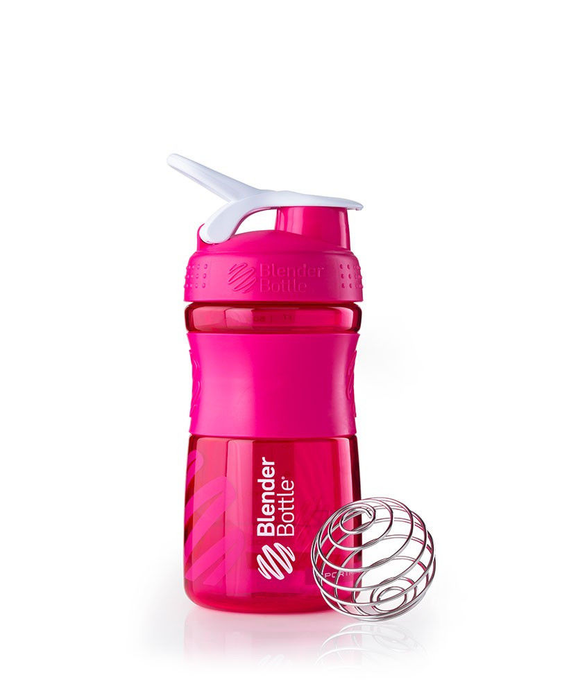 Шейкер спортивный BlenderBottle SportMixer 590ml (ORIGINAL) Pink фото видео изображение