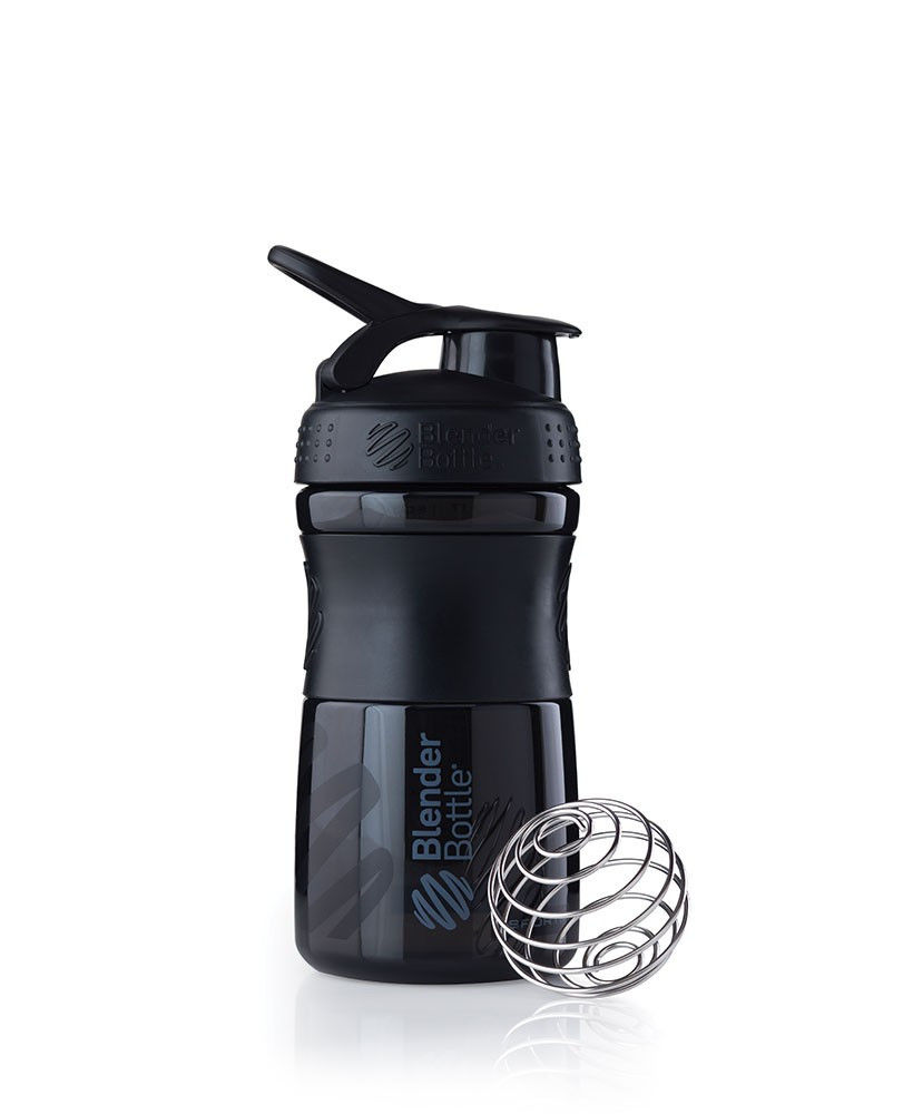 Шейкер спортивный BlenderBottle SportMixer 590ml (ORIGINAL) Black фото видео изображение