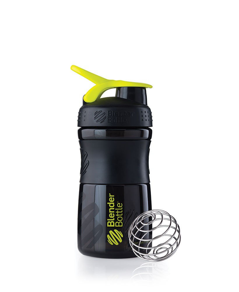 Шейкер спортивный BlenderBottle SportMixer 590ml (ORIGINAL) Black-Green фото видео изображение