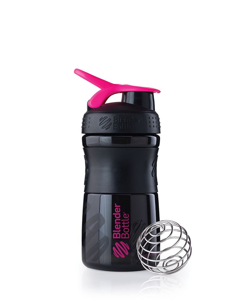 Шейкер спортивный BlenderBottle SportMixer 590ml (ORIGINAL) Black-Pink фото видео изображение