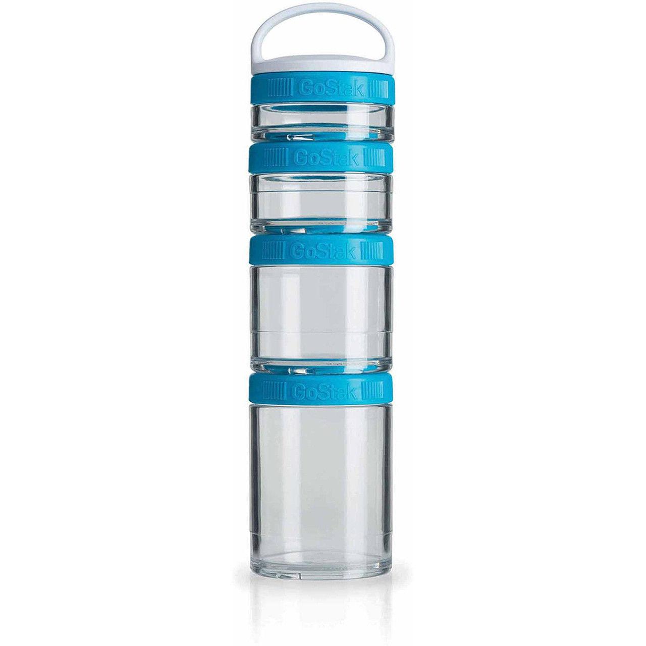 Контейнер спортивный BlenderBottle GoStak Starter 4 Pak (ORIGINAL) Aqua фото видео изображение