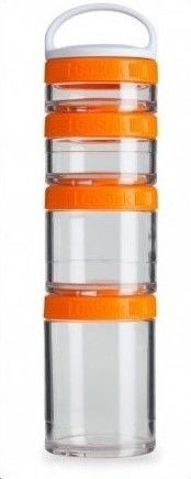 Контейнер спортивный BlenderBottle GoStak Starter 4 Pak (ORIGINAL) Orange фото видео изображение