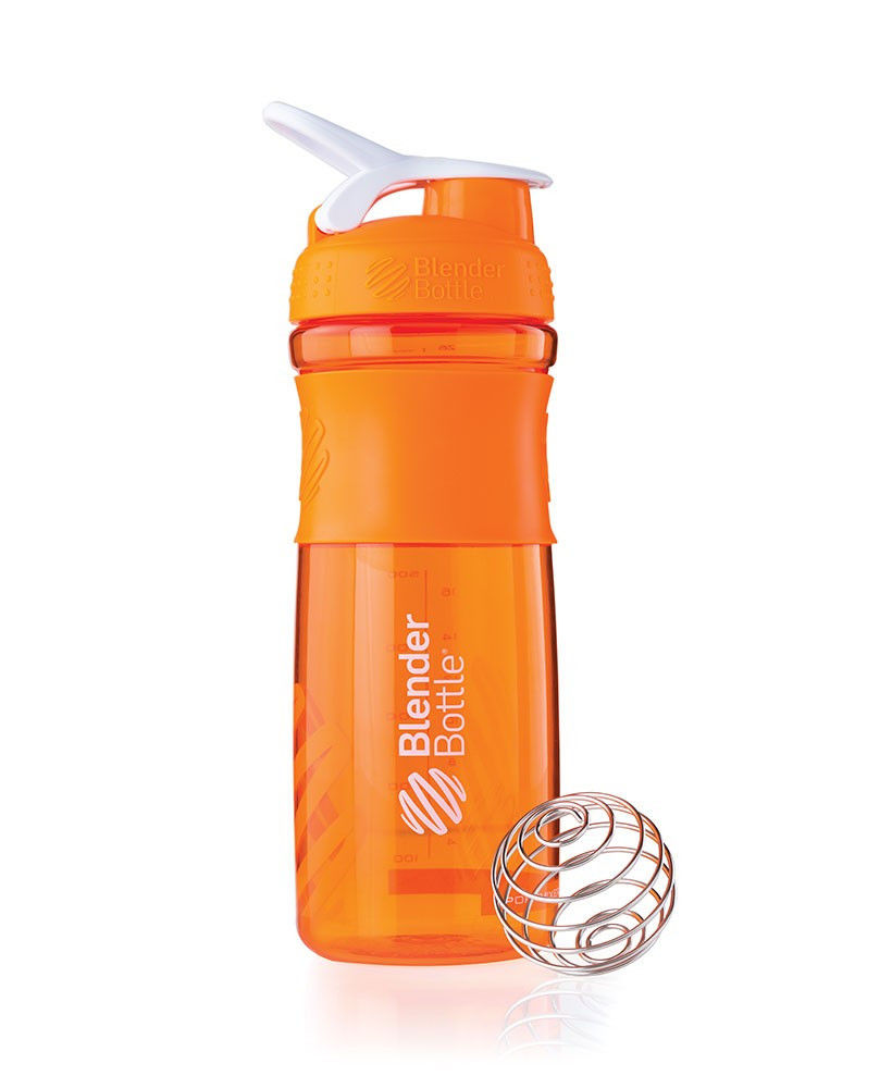 Шейкер спортивный BlenderBottle SportMixer 820ml (ORIGINAL) Orange фото видео изображение