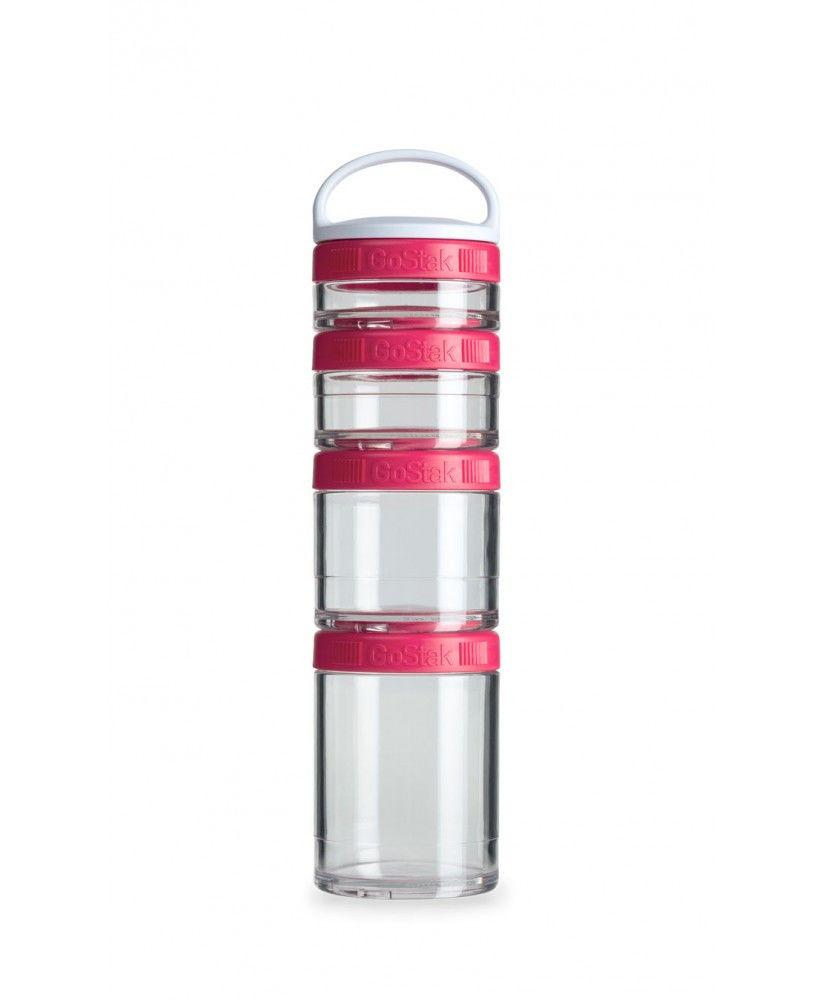 Контейнер спортивный BlenderBottle GoStak Starter 4 Pak (ORIGINAL) Pink фото видео изображение