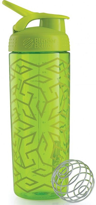 Шейкер спортивный BlenderBottle Signature Sleek 820ml (ORIGINAL) Green Zen Gala фото видео изображение