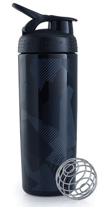 Шейкер спортивный BlenderBottle Signature Sleek 820ml (ORIGINAL) Black Diamond Native фото видео изображение