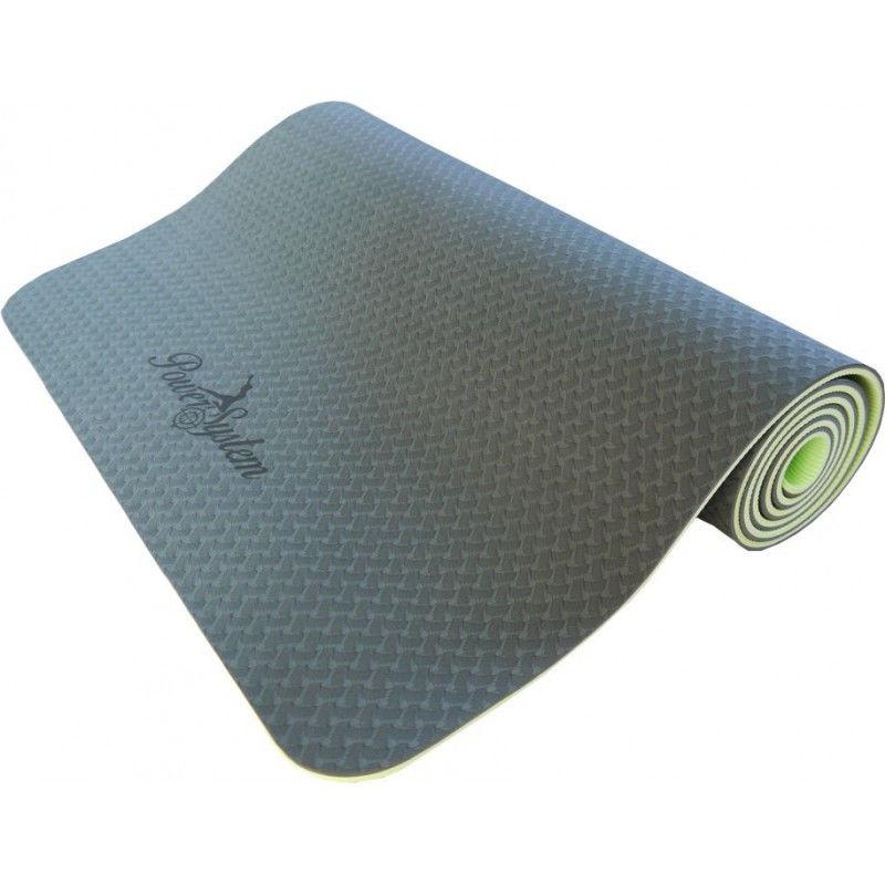 Йога-мат Power System Yoga Mat Premium PS-4056 Зеленый фото видео изображение