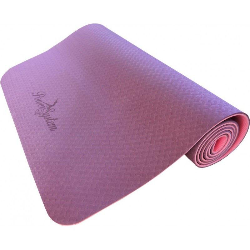 Йога-мат Power System Yoga Mat Premium PS-4056 Розовый фото видео изображение
