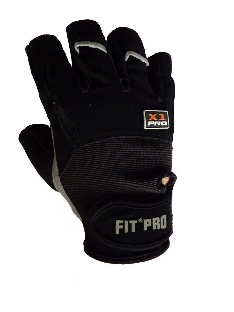 Перчатки для кроссфита Power System FP-01 X1 Pro Черный, XL фото видео изображение