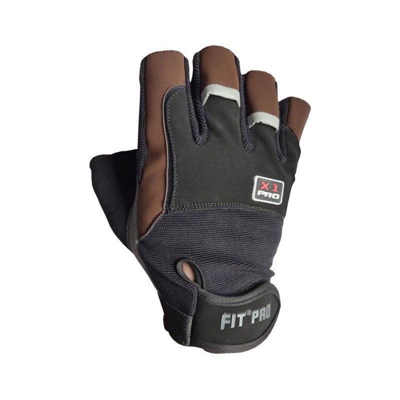 Перчатки для кроссфита Power System FP-01 X1 Pro Коричневый, L фото видео изображение