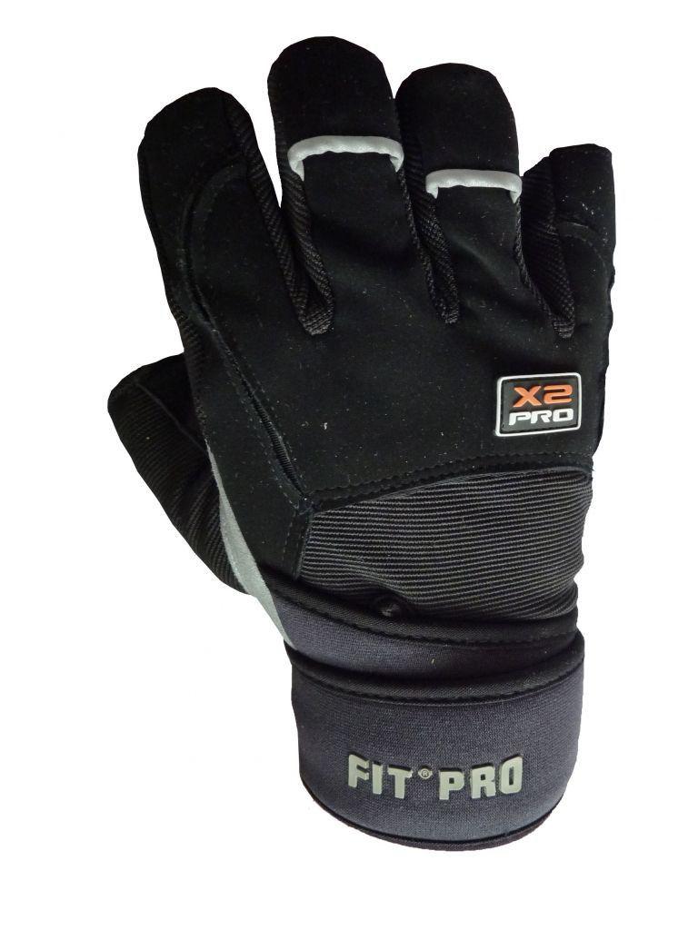 Перчатки для кроссфита Power System FP-02 X2 Pro Черный, L фото видео изображение