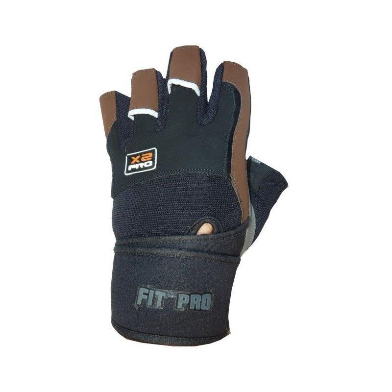 Перчатки для кроссфита Power System FP-02 X2 Pro Черно-коричневый, L фото видео изображение