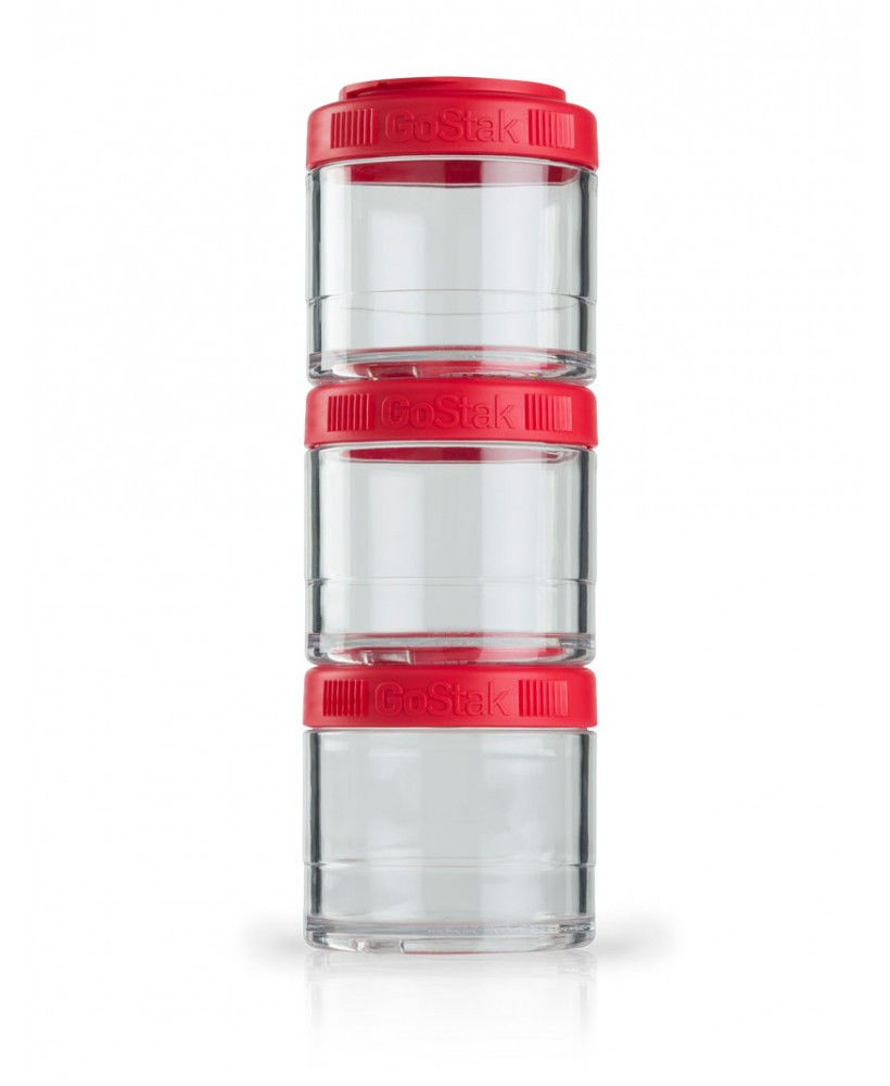 Контейнер спортивный BlenderBottle GoStak 3 Pak (ORIGINAL) Red