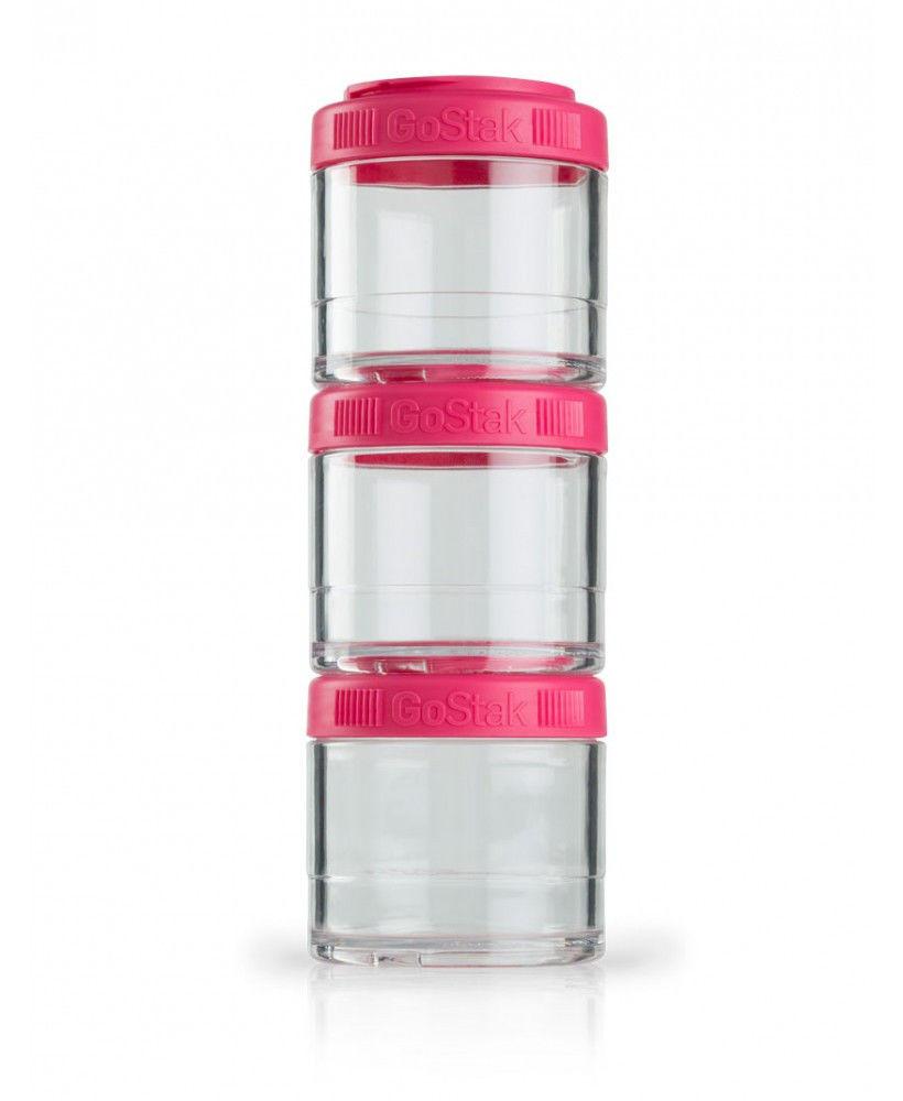 Контейнер спортивный BlenderBottle GoStak 3 Pak (ORIGINAL) Pink фото видео изображение