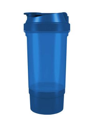 фото Шейкер 360 с контейнером для порошка (500 мл) Синий видео отзывы