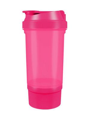 фото Шейкер 360 с контейнером для порошка (500 мл) Розовый видео отзывы