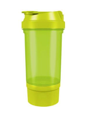 фото Шейкер 360 с контейнером для порошка (500 мл) Зеленый видео отзывы