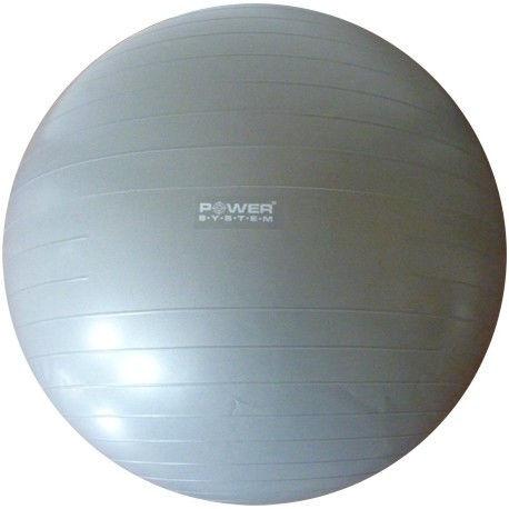 Мяч гимнастический POWER SYSTEM PS - 4012 65cm Серый фото видео изображение