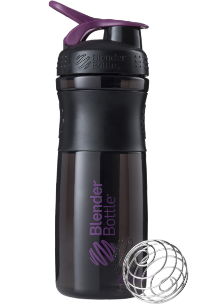 Шейкер спортивный BlenderBottle SportMixer 820ml (ORIGINAL) Black-Plum фото видео изображение
