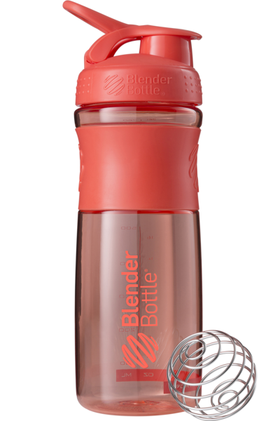 Шейкер спортивный BlenderBottle SportMixer 820ml (ORIGINAL) Coral фото видео изображение