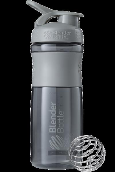 Шейкер спортивный BlenderBottle SportMixer 820ml (ORIGINAL) Grey фото видео изображение