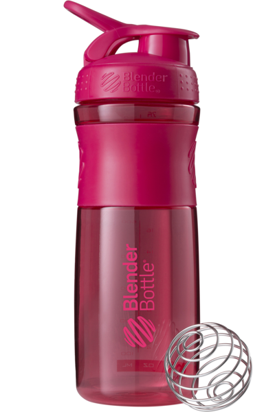 Шейкер спортивный BlenderBottle SportMixer 820ml (ORIGINAL) Pink-Pink фото видео изображение