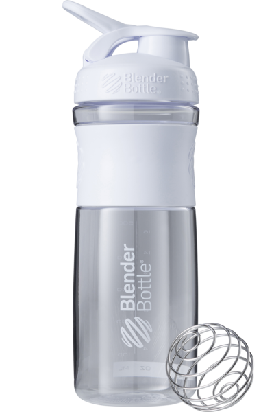 Шейкер спортивный BlenderBottle SportMixer 820ml (ORIGINAL) White фото видео изображение