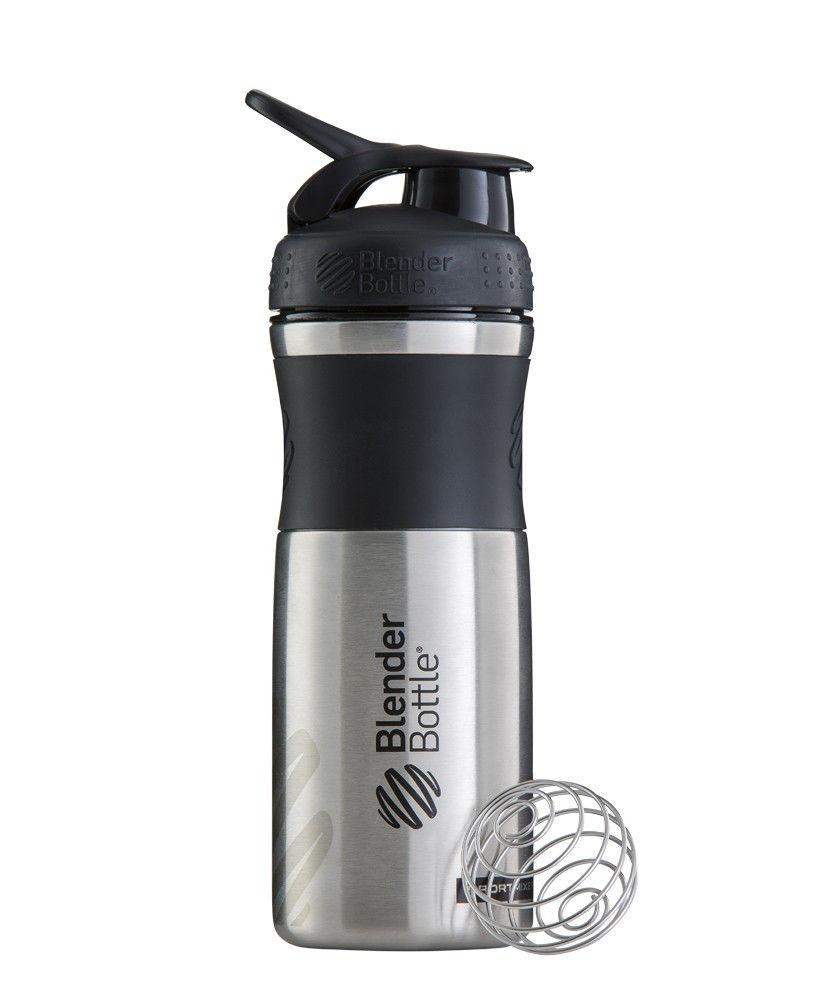 Шейкер спортивный BlenderBottle Stainless (ORIGINAL) Black фото видео изображение