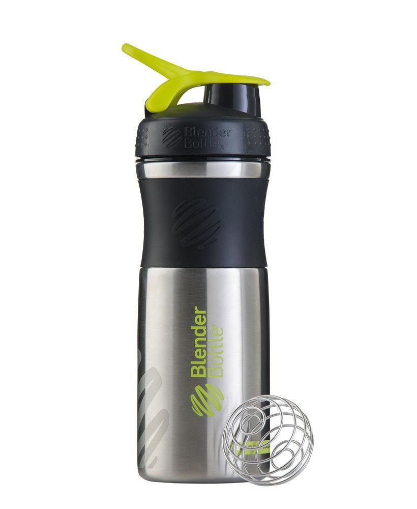 Шейкер спортивный BlenderBottle Stainless (ORIGINAL) Green фото видео изображение