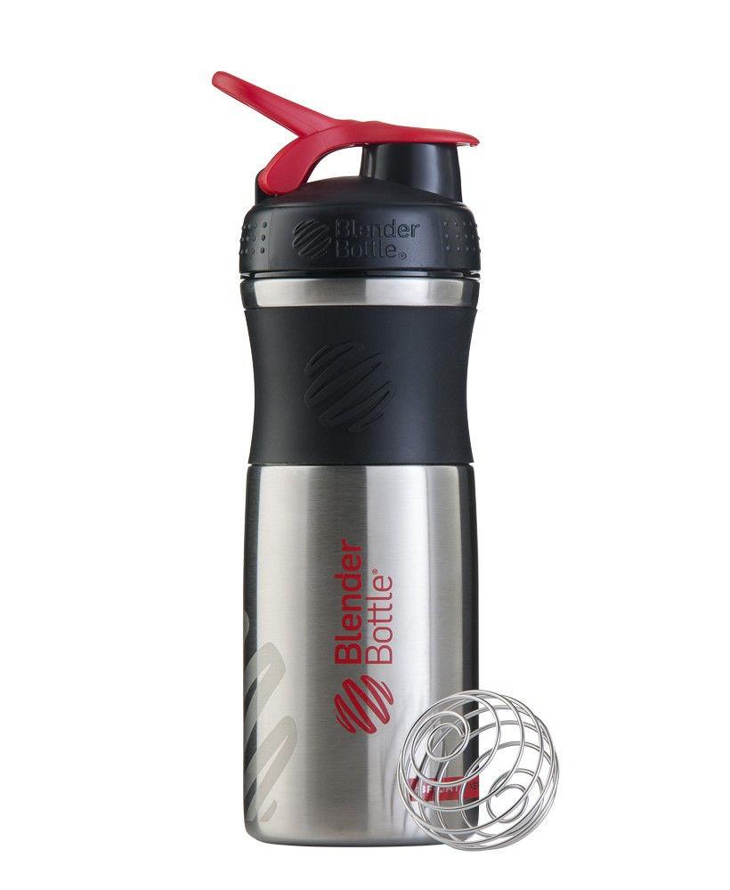 Шейкер спортивный BlenderBottle Stainless (ORIGINAL) Red фото видео изображение