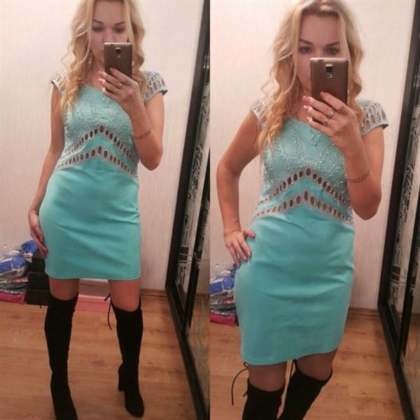 фото Бирюзовое платье Найс Истамбул отзывы