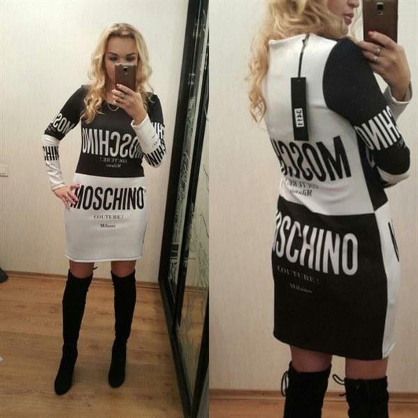 фото Платье с длинным рукавом MOSCHINO видео отзывы