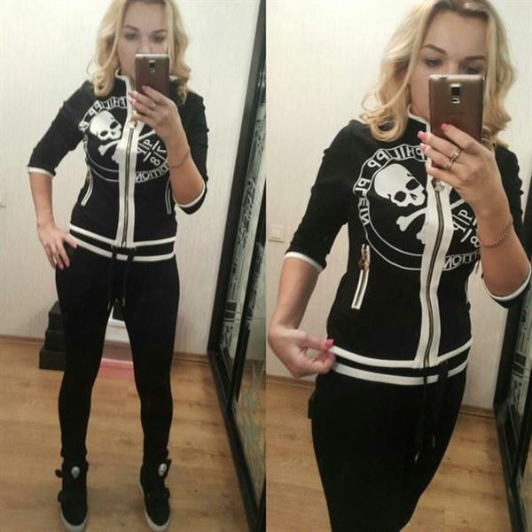 Купить Черный спортивный костюм высокого качества цена