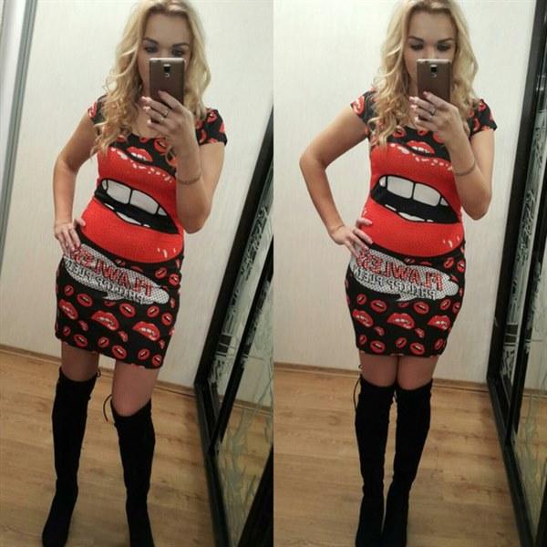 фото Модное платье AMN с ярким принтом отзывы