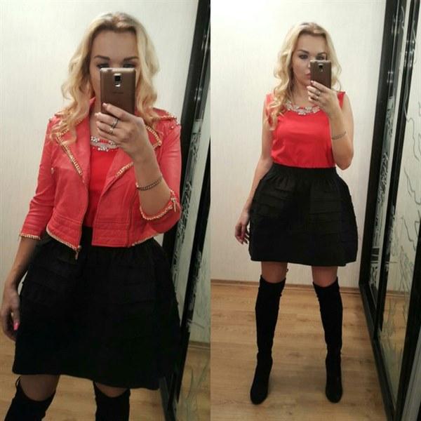 Курточка красная короткая фото видео изображение