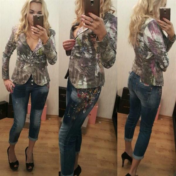 Цена Костюм женский джинсовый модного дизайна