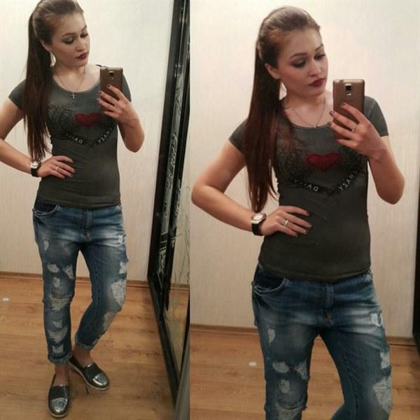 Модные джинсы с потертостями фото видео изображение