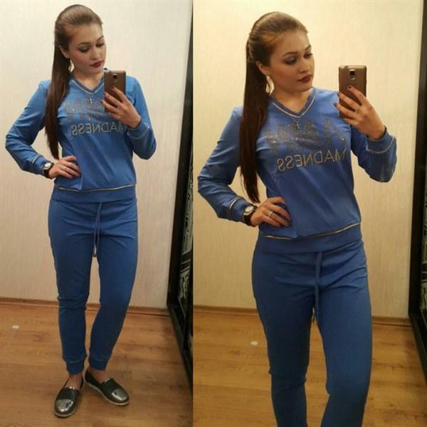 фото Синий спортивный костюм видео отзывы