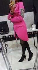 фото Розовое короткое пальто видео отзывы