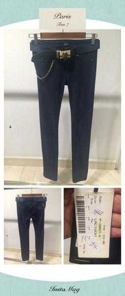 фото Синие женские брюки АМНЕЗИЯ видео отзывы