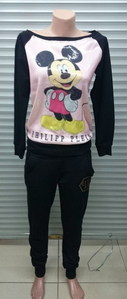 Купить Спортивный костюм черного цвета с Микки Маусом цена