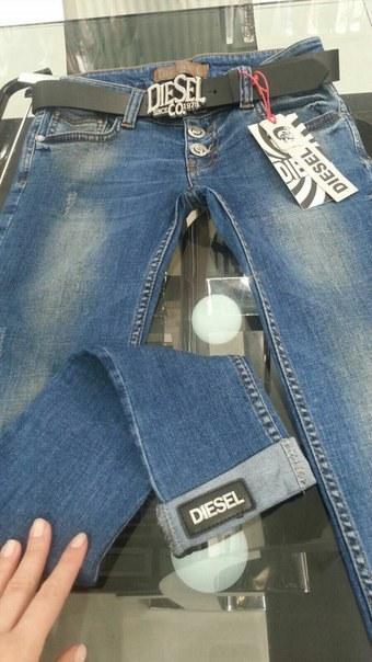 фото Джинсовые штаны DIESEL темно-синие видео отзывы