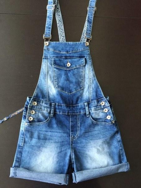 фото Комбинезон джинсовый с шортами видео отзывы