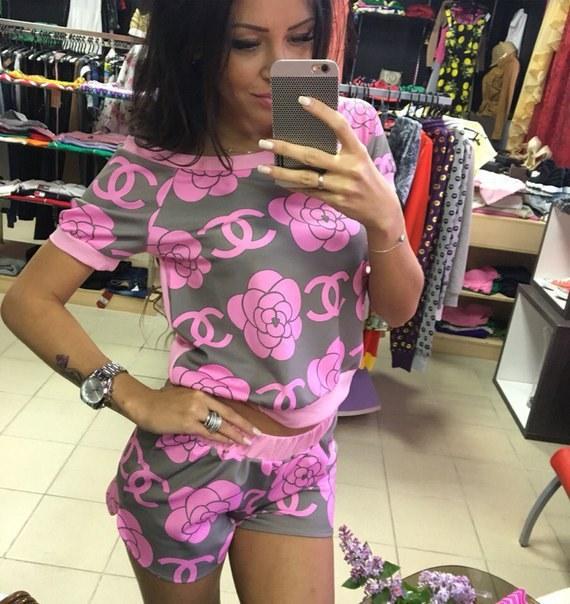 фото Легкий летний женский костюм с шортами видео отзывы