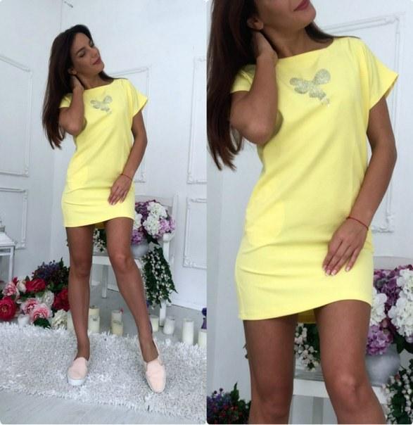 Купить Полуприталенное платье с коротким цельнокройным рукавом цена
