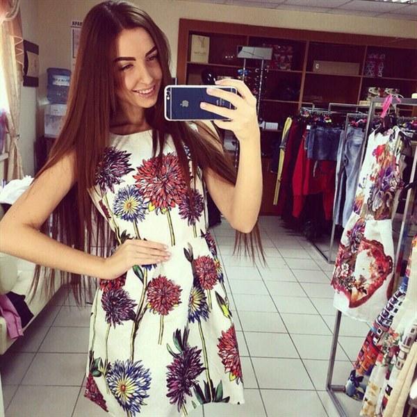 Купить Платье летнее из жаккардовой ткани цена