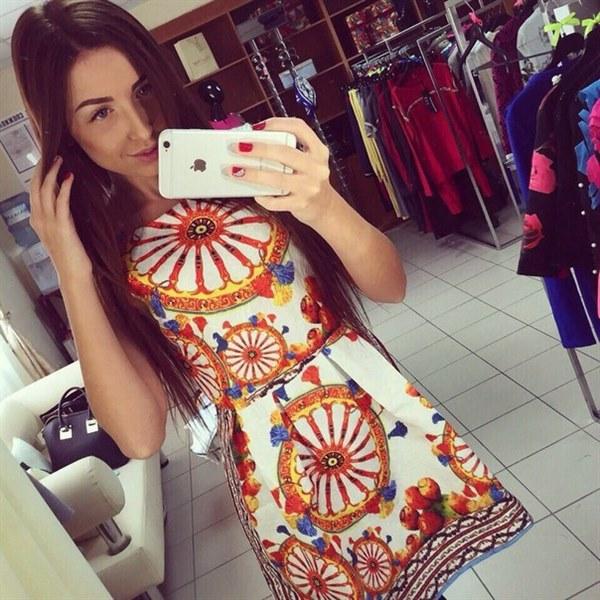 Купить Жаккардовое платье с красивым узором цена