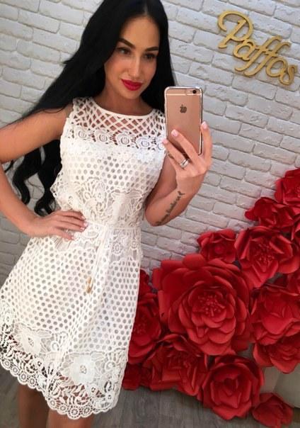 Купить Кружевное белое платье цена